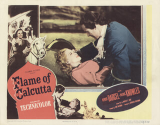FLAME OF CALCUTTA MOVIE CAST - LOBBY CARD UNSIGNED (USA) 1953