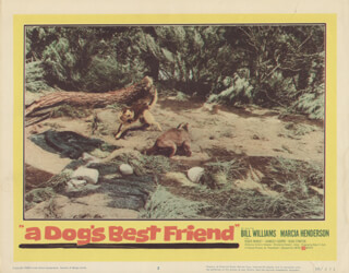 A DOG'S BEST FRIEND MOVIE CAST - LOBBY CARD UNSIGNED (USA) 1960