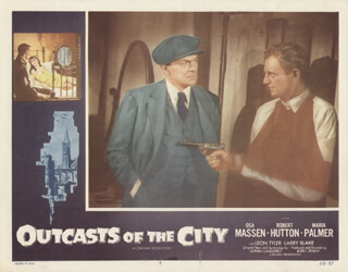 OUTCASTS OF THE CITY MOVIE CAST - LOBBY CARD UNSIGNED (USA) 1958