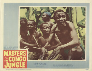 MASTERS OF THE CONGO JUNGLE MOVIE CAST - LOBBY CARD UNSIGNED (USA) 1959