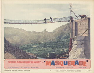 MASQUERADE MOVIE CAST - LOBBY CARD UNSIGNED (USA) 1965