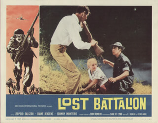 LOST BATTALION MOVIE CAST - LOBBY CARD UNSIGNED (USA) 1961