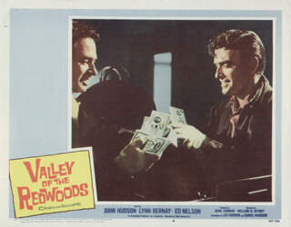 VALLEY OF THE REDWOODS MOVIE CAST - LOBBY CARD UNSIGNED (USA) 1960