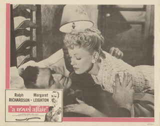A NOVEL AFFAIR MOVIE CAST - LOBBY CARD UNSIGNED (USA) 1957