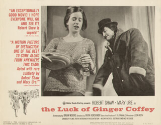 THE LUCK OF GINGER COFFEY MOVIE CAST - LOBBY CARD UNSIGNED (USA) 1964