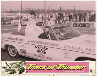 TRACK OF THUNDER MOVIE CAST - LOBBY CARD UNSIGNED (USA) 1967
