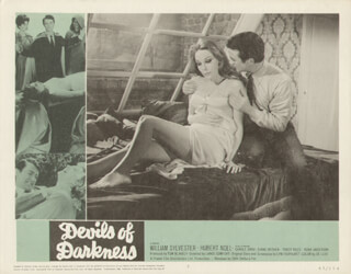 DEVILS OF DARKNESS MOVIE CAST - LOBBY CARD UNSIGNED (USA) 1965