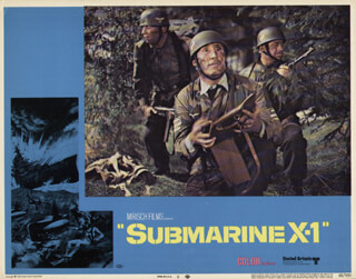 SUBMARINE X-1 MOVIE CAST - LOBBY CARD UNSIGNED (USA) 1964