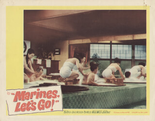 MARINES, LET'S GO MOVIE CAST - LOBBY CARD UNSIGNED (USA) 1961