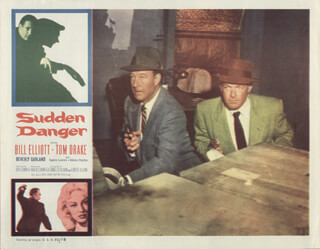 SUDDEN DANGER MOVIE CAST - LOBBY CARD UNSIGNED (USA) 1955