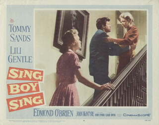 SING BOY SING MOVIE CAST - LOBBY CARD UNSIGNED (USA) 1958