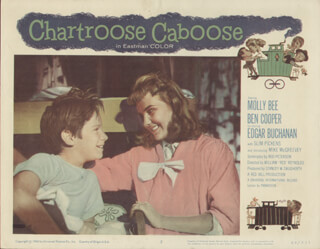 CHARTROOSE CABOOSE MOVIE CAST - LOBBY CARD UNSIGNED (USA) 1960