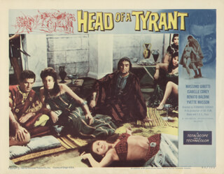 HEAD OF A TYRANT MOVIE CAST - LOBBY CARD UNSIGNED (USA) 1960