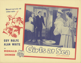 GIRLS AT SEA MOVIE CAST - LOBBY CARD UNSIGNED (USA) 1958