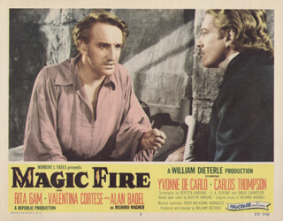 MAGIC FIRE MOVIE CAST - LOBBY CARD UNSIGNED (USA) 1956
