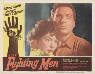 THE FIGHTING MEN MOVIE CAST - LOBBY CARD UNSIGNED (USA)