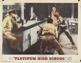 PLATINUM HIGH SCHOOL MOVIE CAST - LOBBY CARD UNSIGNED (USA) 1960