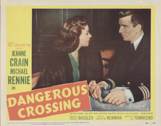 DANGEROUS CROSSING MOVIE CAST - LOBBY CARD UNSIGNED (USA) 1953