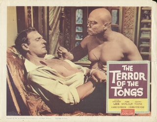 THE TERROR OF THE TONGS MOVIE CAST - LOBBY CARD UNSIGNED (USA) 1960