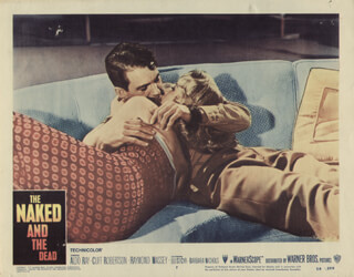 THE NAKED AND THE DEAD MOVIE CAST - LOBBY CARD UNSIGNED (USA) 1958