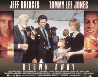 BLOWN AWAY MOVIE CAST - LOBBY CARD UNSIGNED (USA) 1994
