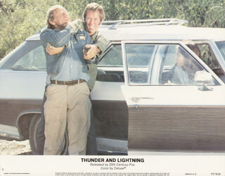 THUNDER AND LIGHTNING MOVIE CAST - LOBBY CARD UNSIGNED (USA) 1977