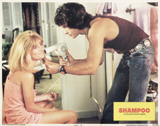 SHAMPOO MOVIE CAST - LOBBY CARD UNSIGNED (USA) 1975