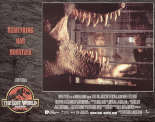 JURASSIC PARK: THE LOST WORLD MOVIE CAST - LOBBY CARD UNSIGNED (USA) 1997