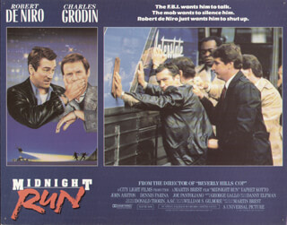 MIDNIGHT RUN MOVIE CAST - LOBBY CARD UNSIGNED (USA) 1988