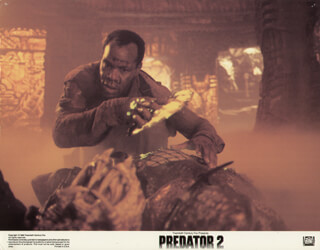 PREDATOR 2 MOVIE CAST - LOBBY CARD UNSIGNED (USA) 1990