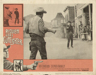 REQUIEM FOR A GUNFIGHTER MOVIE CAST - LOBBY CARD UNSIGNED (USA) 1965