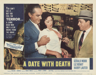 Autographs: A DATE WITH DEATH MOVIE CAST - LOBBY CARD UNSIGNED (USA) 1959