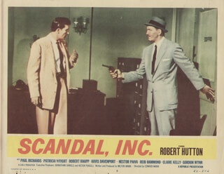 SCANDAL, INC. MOVIE CAST - LOBBY CARD UNSIGNED (USA) 1956