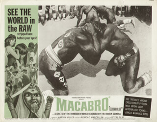 MACABRO MOVIE CAST - LOBBY CARD UNSIGNED (USA) 1966
