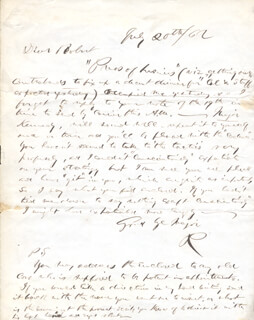 PRESIDENT RUTHERFORD B. HAYES - AUTOGRAPH LETTER SIGNED 07/20/1862
