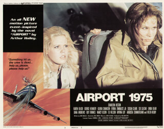 AIRPORT 1975 MOVIE CAST - LOBBY CARD UNSIGNED (USA) 1974