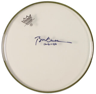 Autographs: PRESIDENT WILLIAM J. BILL CLINTON - DRUMHEAD SIGNED 11/06/2006