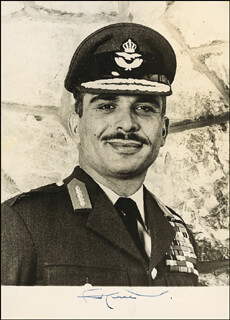 KING HUSSEIN (JORDAN) - AUTOGRAPHED SIGNED PHOTOGRAPH