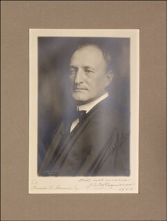 Autographs: ASSOCIATE JUSTICE JAMES C. MCREYNOLDS - INSCRIBED PHOTOGRAPH SIGNED 1932