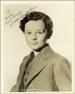 FREDDIE BARTHOLOMEW - AUTOGRAPHED INSCRIBED PHOTOGRAPH