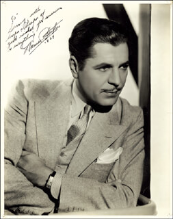 WARNER BAXTER - AUTOGRAPHED INSCRIBED PHOTOGRAPH 1934