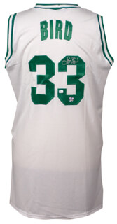 Autographs: LARRY BIRD - JERSEY SIGNED