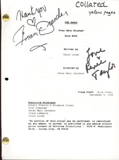 THE NANNY TV CAST - SCRIPT SIGNED CO-SIGNED BY: RENEE TAYLOR, FRAN DRESCHER