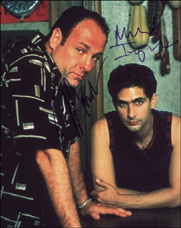 THE SOPRANOS TV CAST - AUTOGRAPHED SIGNED PHOTOGRAPH CO-SIGNED BY: JAMES GANDOLFINI, MICHAEL IMPERIOLI