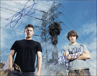 SUPERNATURAL TV CAST - AUTOGRAPHED SIGNED PHOTOGRAPH CO-SIGNED BY: JARED PADALECKI, JENSEN ACKLES