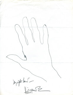 Autographs: HILDEGARDE - HAND/FOOT PRINT OR SKETCH SIGNED