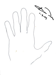 ROBERT J. BOB DOLE - HAND/FOOT PRINT OR SKETCH SIGNED 01/03/1997