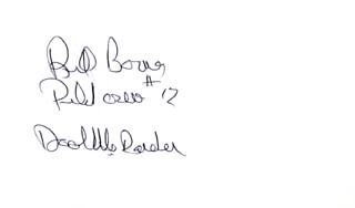 Autographs: COLONEL WILLIAM M. BILL BOWER - SIGNATURE(S)