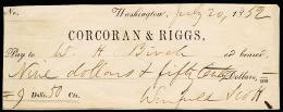 Autographs: LT. GENERAL WINFIELD SCOTT - CHECK SIGNED 07/20/1852