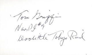 MAJOR THOMAS C. GRIFFIN - AUTOGRAPH